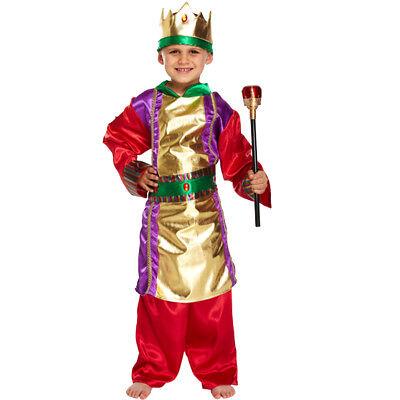 Childs Boys Rich Tudor Stuart Nativity King Book Day Fancy Dress Costume Outfit