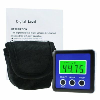 Digital Protractor Angle Finder Bevel Box Inclinometer Magnetic Base Carpentry 3