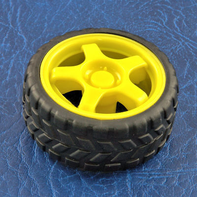 Smart Robot Car Plastic Tire Tyre Wheel w/ DC 6V Gear Motor Set For Arduino 2