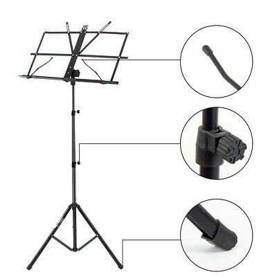 Adjustable Music Stand Holder Foldable Sheet Tripod Base Metal with carry bag 3