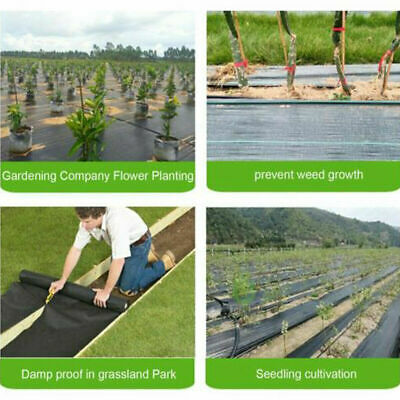 Heavy Duty Fabric Weed Control Membrane Garden Ground Cover Mat Landscape Sheet 8