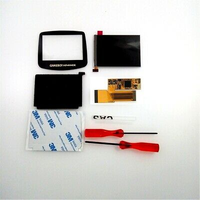 V2 IPS Backlight Backlit LCD For Game Boy Advance GBA and Pre-cut Shell Case 3