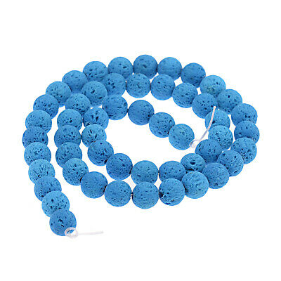 Dyed Volcanic Lava Rock Gemstone Beads Natural Stone Round 8mm Loose DIY Beads 8