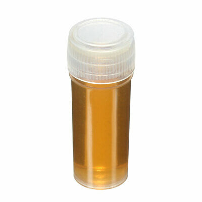 20/40/100x 5ml Chemistry Plastic Test Tubes Vials with Seal Caps Pack Container 6