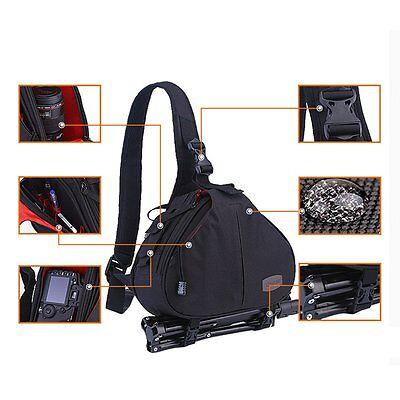New Canon Nikon Sony Camera Backpack Sling Shoulder Bag Case Shockproof DSLR SLR 8