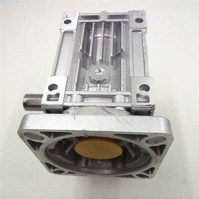 NMRV040 Worm Gearbox Geared Speed Reducer 14mm Input for 60/80/86/90 Motor 10