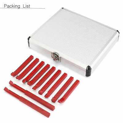 "20PC 1//2/"" CARBIDE TIP TIPPED CUTTER TOOL BIT CUTTING SET FOR METAL LATHE TOOLING"