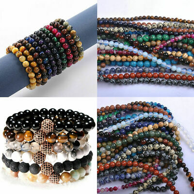 Wholesale NATURAL GEMSTONE Round Charms Loose Spacer BEADS 4MM 6MM 8MM 10MM 12MM 5