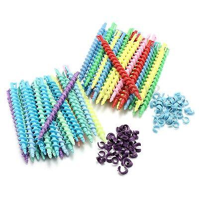 25Pcs Magic Rouleaux Bigoudi Cheveux Spirale Coiffure Curler Friser Twist Roller