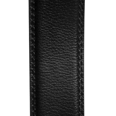 Men's Designer Leather Dress Belt With Sliding Ratchet Automatic Buckle Holeless 7