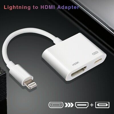 UHD 4K Lightning to hdmi adapter + Braided 3ft 6ft 10ft HDMI Cable For iPhone CA 2