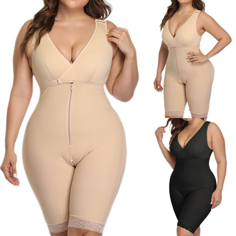 Women Body Shaper Girdle Strong Support Shapewear Slim Cincher Corset Plus Size 3