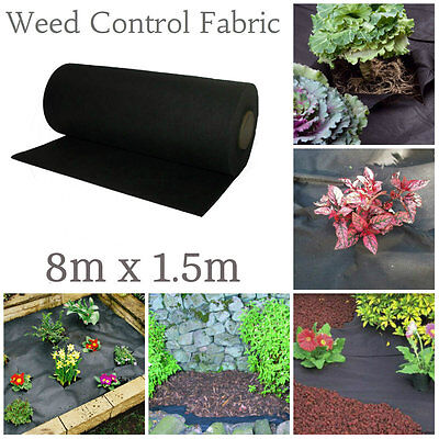 15m x 1m 45 GSM Weed Control Fabric Porous Membrane Rolls Ground Cover