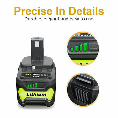 2 Pack 6.0Ah Lithium Battery For Ryobi ONE+ 18V P108 Replacement P104 P102 Tools 3
