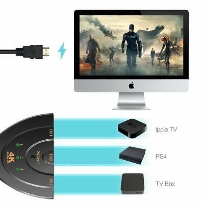 4K Ultra HD 3 Way HDMI Switch Splitter HDTV Auto 3 Port IN 1 OUT Splitter CAN SL 5