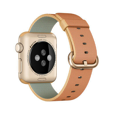Authentic Apple (Gold/Red) Woven Nylon Band for Apple Watch 38mm - New Other!
