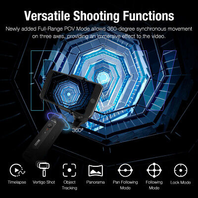 Zhiyun Smooth Q2 MobileGimbal Stabilizer w/360° Rotation For iPhone Samsung 3