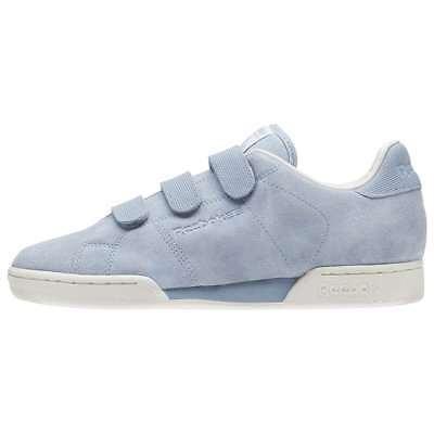 MENS REEBOK CLASSICS NPC Straps Grey Blue Sneakers
