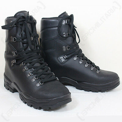 236f4963afe FRENCH ARMY LEATHER Combat Boots - Winter Gore-Tex Lined Waterproof Hiking  New