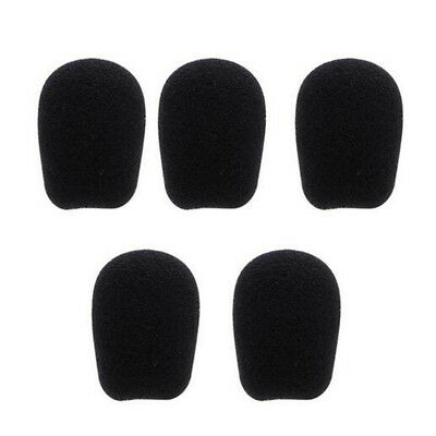 10pcs  Black Microphone Headset Foam Sponge Windscreen Mic Cover 6 Sizes 6