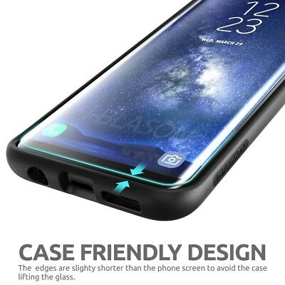 Case Friendly Curved Tempered Glass Screen Protector for Samsung Galaxy S9 S9+ 8
