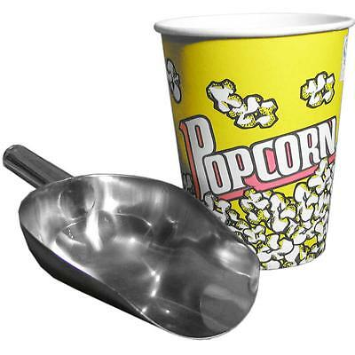 Popcorn Scoop Stainless Steel Large Popcorn Scooping Making Accessory Supplies 3