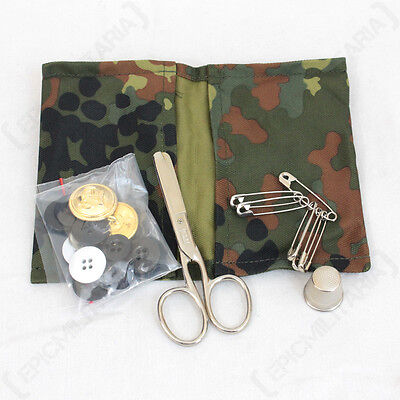 German Navy Sewing Kit with Flecktarn Camo Case - Set Sailor Cadets Case Sea New