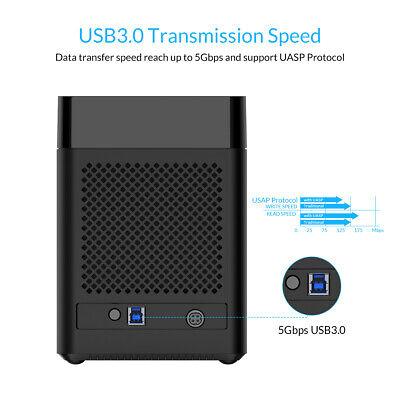 50TB Tool Free 5 Bay 3.5 Inch Sata Hard Drive Enclosure USB3.0 HDD Dock 5