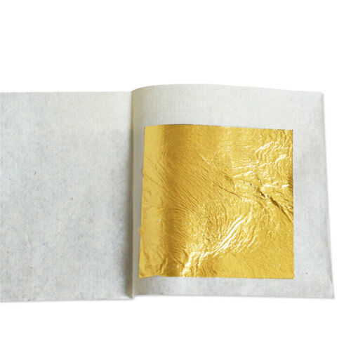 10pcs Pure 24K Edible Gold Leaf Sheets For Cooking Framing Art Craft Decorating 11