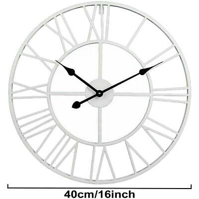 40Cm Extra Large Roman Numerals Skeleton Wall Clock Big Giant Open Face Round 6