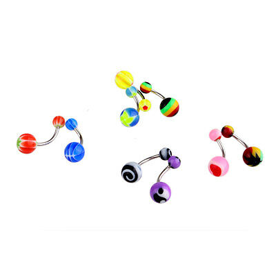 50 Pcs Belly Button Navel Ring Bar Bars Body Piercing Jewellery Rings Makeup UK 6