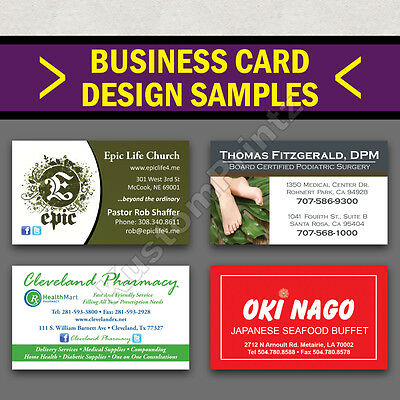 100 Custom Full Color Business Cards | 16Pt | Matte Dull Finish | Free Design 6
