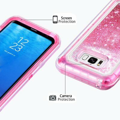 Samsung Galaxy S9 Plus Liquid Glitter Quicksand Protective Shockproof Case Cover 5