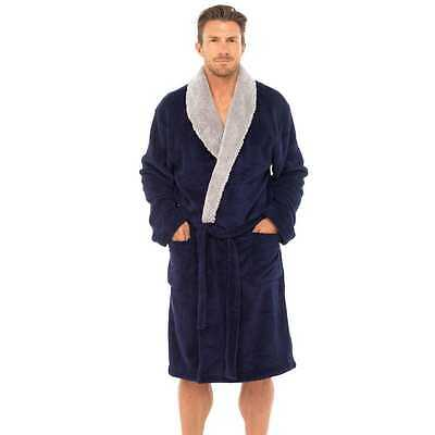 3099cc95e2 ... Mens Supersoft Housecoat Fleece Bath Robe Dressing Gown Gents Warm  Winter Style 4