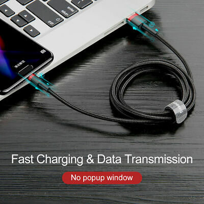 Baseus Samsung S10 Plus S9 S8 USB-C Type C Cable Fast Charging Sync Charger Cord 3