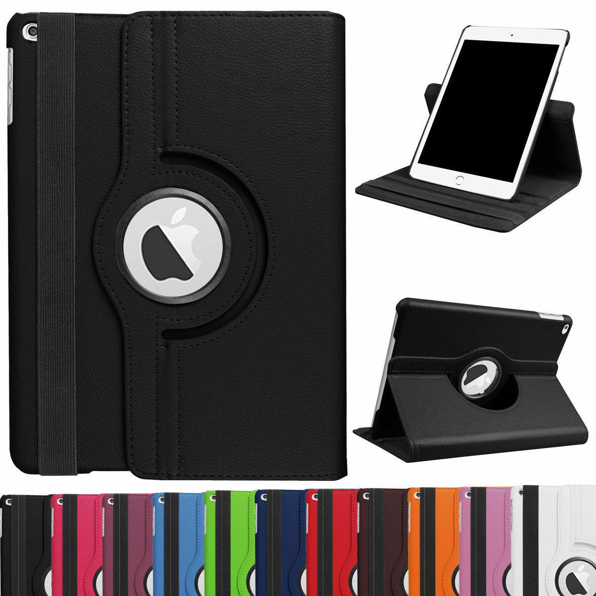 360° Rotating Shockproof Stand Leather Case For iPad Mini Air 1 2 3 4 5 6 Cover 2