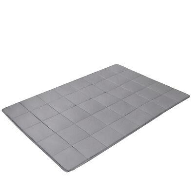 Gewichtsdecke Weighted Blanket Autism ADHD Sensory Therapie Decke Baumwolle Grau 12