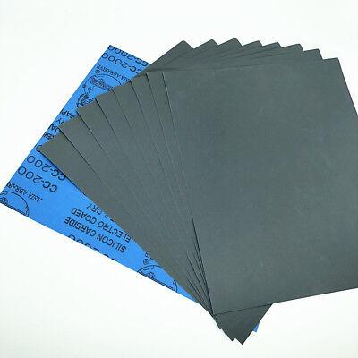 9''x11'' Wet dry Sandpaper Sheets 400/600/800/1000/2000/3000/5000 Grit Polish