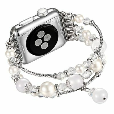 For Apple Watch Series 5 4 44MM Bling Agate Beads Strap Bracelet Band iWatch 2 3 10