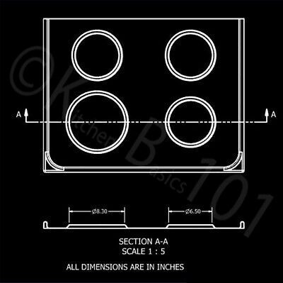 Replacement for Whirlpool Stove Drip Pans, Black W10288051 Two 6-Inch,Two 8-Inch 8