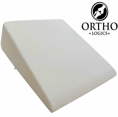 Orthologics LARGE Bed Wedge Raised Pillow Acid Reflux GERD Memory Foam Back OL9