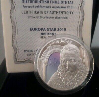 Color SILVER Proof 🅰️ GREECE 10 Euro 2019 🅰️ EL GRECO -DOMENICO THEOTOKOPOULOS 7