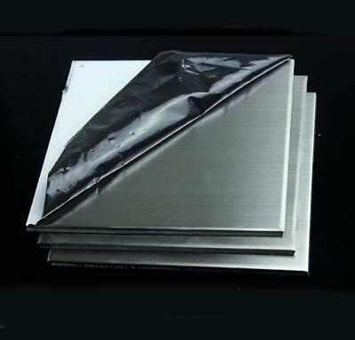 "US Stock 1.5mm x 5"" x 5"" 304 Stainless Steel Fine Polished Plate Sheet"