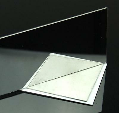 """US Stock 2pcs 0.8mm x 5"""" x 5"""" 304 Stainless Steel Mirror Polished Plate Sheet 4"""