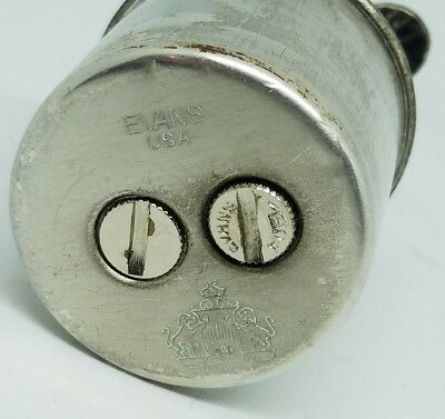Reed & Barton Black Stone Applied Sterling Silver Evans Lighter Art Deco