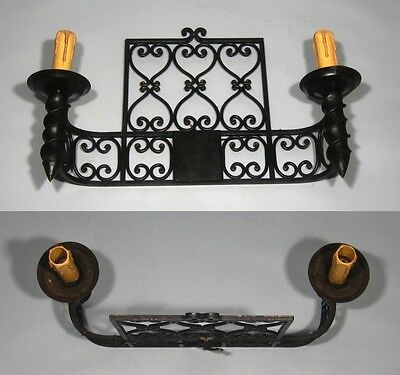 """Large Vintage French Wrought Iron Sconce, """"Chateau"""" Style, 19 x 13 inches 5"""
