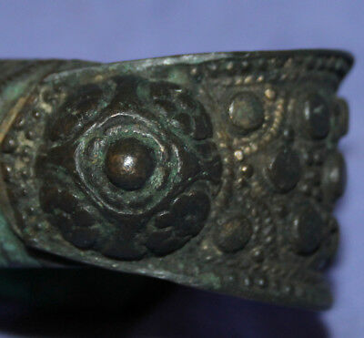 Antique Medieval Fertility Woman Bronze Bracelet 6