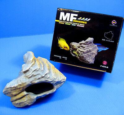 4pcs CICHLID STONE Céramique Aquarium Cave Rock Decor pour Tropical Fish Tank 7