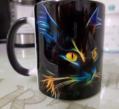 Cat mug - 3d Lighting cat mug - 11oz - Magic mug - Cat lovers - Tea Coffee mug