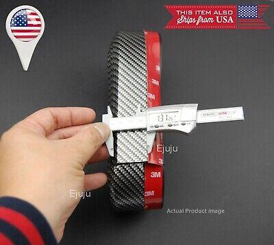 "1.3/"" Red Carbon Fiber Effect EZ Fit Bumper Lip Chin Splitter For Hyundai Kia"